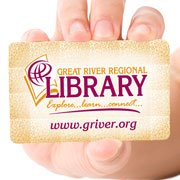 GRRL logo and library card