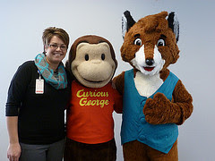 Dr. Amy Larson, Curious George and ECRL's Sherlock