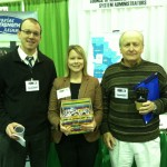 Commissioners Ben Grimsley (l) and Larry Knutson (r) with Liz Lynch, LARL Director