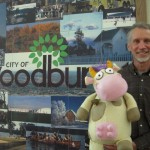 Moo! Author David LaRochelle and Cow visit the Woodbury Public Library