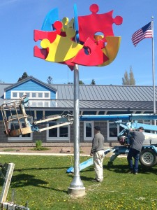 ALS Grand Marais sculpture installation 2015-06
