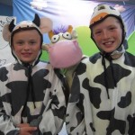 Cousins dressed to meet Cow in Brainerd