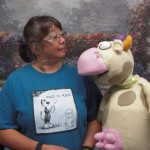 Pine River library staff welcome Cow