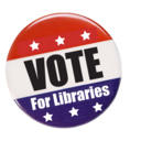 Vote for Libraries button