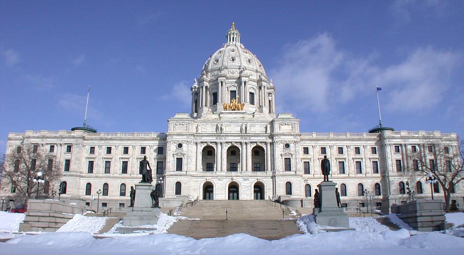 Minnesota Capitol in winter