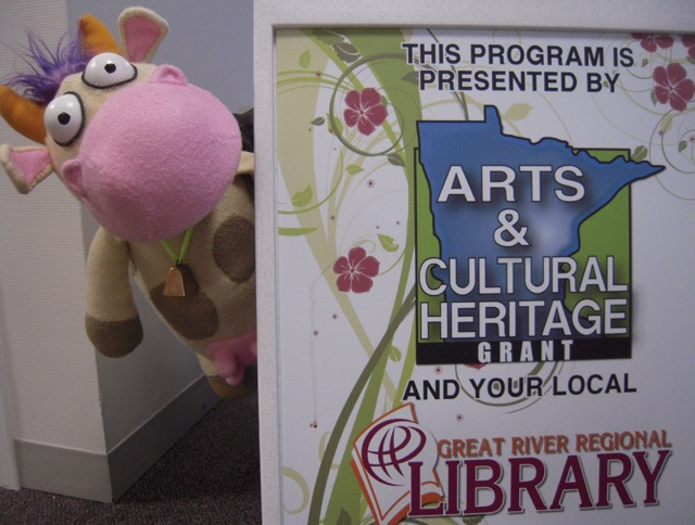 Cow at a GRRL library program