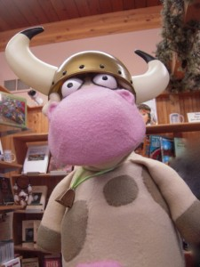 Since she was in Vikingland, Cow wanted to dress the part