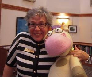 Ann Hutton with Cow in Winona